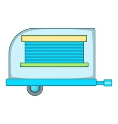 Old trailer icon cartoon style vector