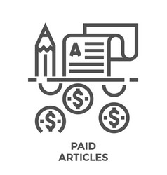 Paid articles icon vector