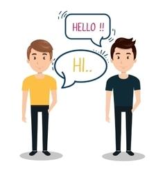 people talking speech communication vector image
