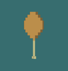 Pixel icon in flat style fried chicken drumsticks vector