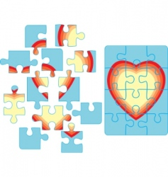 puzzle backgroun vector image vector image