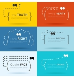 quote backgrounds vector image