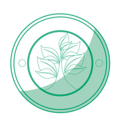sheet tree round icon vector image vector image