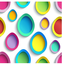 Stylish colorful seamless pattern with easter egg vector
