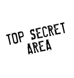Top secret area rubber stamp vector