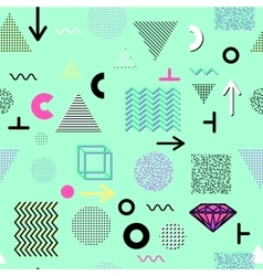 Trendy geometric elements memphis cards seamless vector image vector image