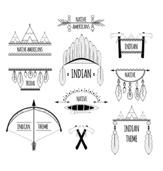 Tribal labels set vector image