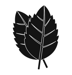 Two basil leaves icon simple style vector
