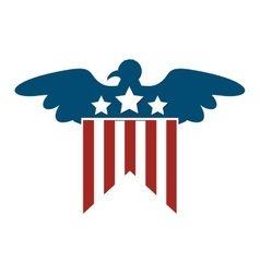 united states of america with eagle emblem vector image