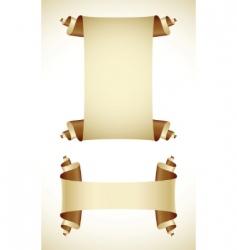 vintage scrolls vector image