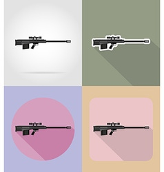 weapon flat icons 14 vector image