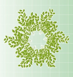 Branches in a wreath with cells vector