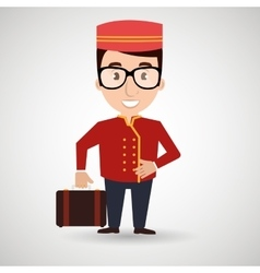 Hotel employees avatar icon vector