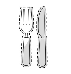 Fork and knife vector
