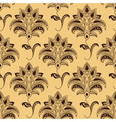 Seamless paisley pattern with persian styled vector