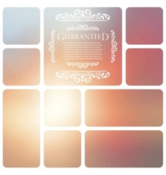 Guaranteed lettering on abstract blurry background vector