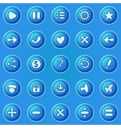 Blue buttons for game UI vector image