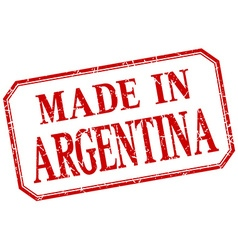 Argentina - made in red vintage isolated label vector