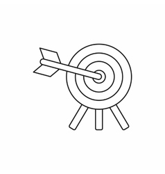 Target icon in outline style vector