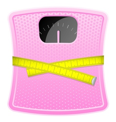 Bathroom pink scale cm vector image vector image