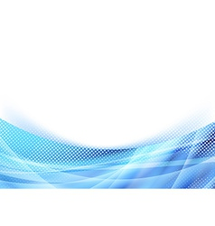 Blue glare wave dotted particle background vector