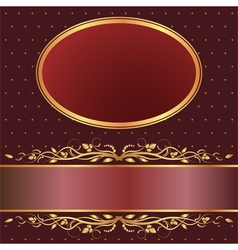 brown and red background vector image vector image
