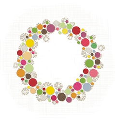 Colorful dots border vector