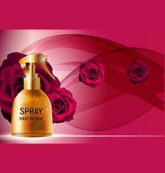 Design hair repair spray cosmetics product vector