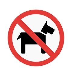 Dog prohibiting sign vector