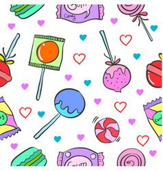 Doodle of candy pattern style vector