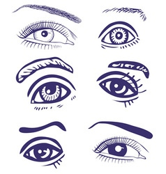Drawing eyes vector