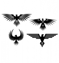 Eagle symbols and tattos vector