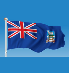flag of falkland islands vector image vector image