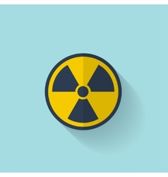Flat radiation icon vector