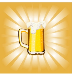 glass goblet with beer and foam vector image