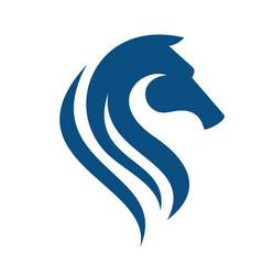 Horse head logo design vector
