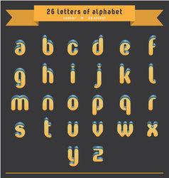 orange-blue 3d letters vector image