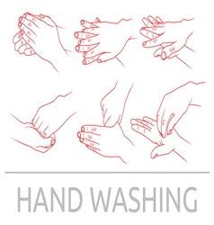 Pranje ruku1 resize vector image vector image