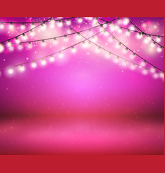 shine garland greeting background with lights vector image vector image