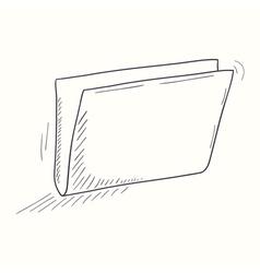 Sketched empty folder desktop icon vector image vector image