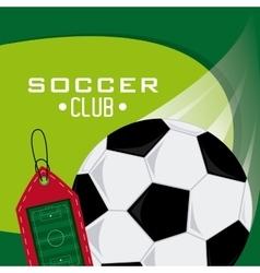 Soccer club design vector