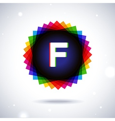 Spectrum logo icon Letter F vector image