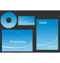 Template elements for Aviation design vector image vector image