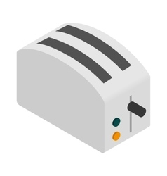 Toaster icon isometric 3d style vector image