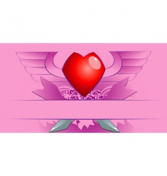 Valentine's poster vector image vector image