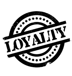 Loyalty rubber stamp vector