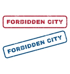 Forbidden city rubber stamps vector