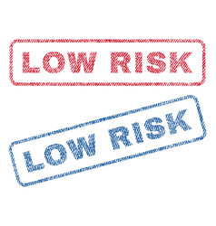 low risk textile stamps vector image