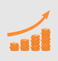 the graph of growth of funds vector image