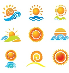 Set of suns vector